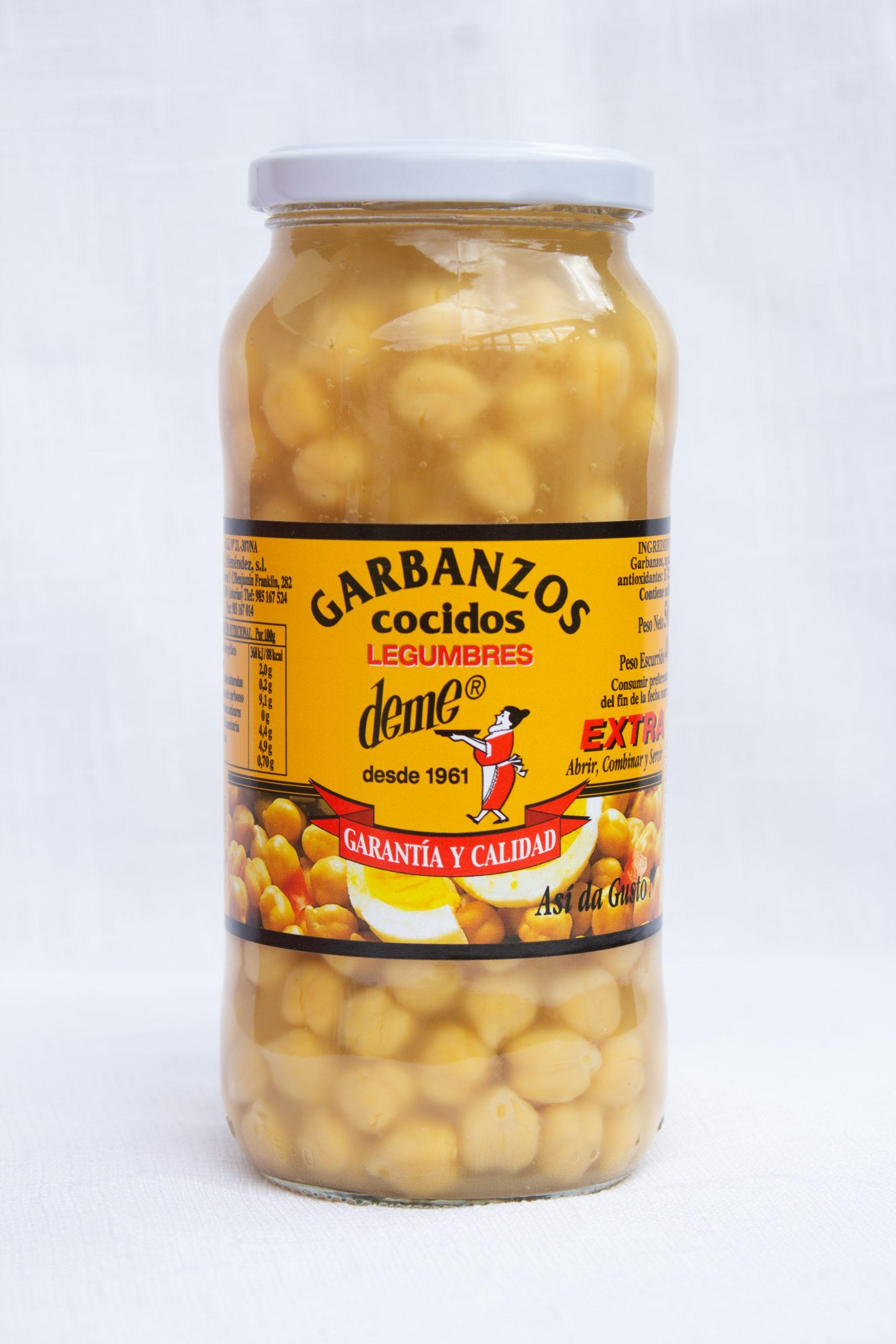 GARBANZOS COCIDOS BOTE